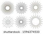 set of vintage hand drawn...   Shutterstock .eps vector #1596374533