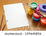 blank sheet of paper and... | Shutterstock . vector #159640856