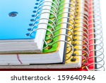 Multicolored Spiral Notebooks...