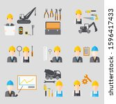 collection icons of people...   Shutterstock .eps vector #1596417433