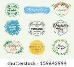 vintage labels set | Shutterstock .eps vector #159643994