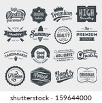 vector labels set | Shutterstock .eps vector #159644000