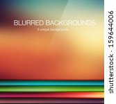 5 vector blurred backgrounds | Shutterstock .eps vector #159644006