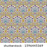 floral seamless fabric pattern. ...   Shutterstock .eps vector #1596445369