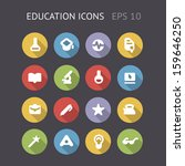 flat icons for education and...