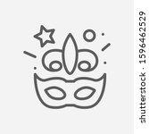 mardi gras icon line symbol....
