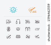 music icons set. cloud music...