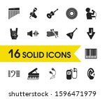 melody icons set with chimes ... | Shutterstock .eps vector #1596471979