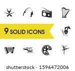 activity icons set with making...
