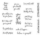 set of hand drawn inspirational ... | Shutterstock .eps vector #1596480943