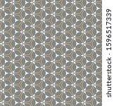 seamless vector pattern in... | Shutterstock .eps vector #1596517339