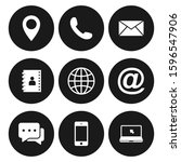 contact us icons. web icon set  ... | Shutterstock .eps vector #1596547906