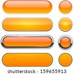 set of blank orange buttons for ... | Shutterstock .eps vector #159655913