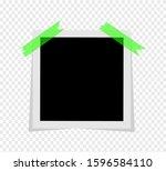 black and white photo polaroid... | Shutterstock .eps vector #1596584110