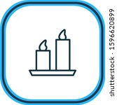 illustration of candle icon... | Shutterstock . vector #1596620899