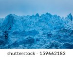 dark blue peaks of alaskan... | Shutterstock . vector #159662183