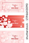 valentines day sale background... | Shutterstock .eps vector #1596643090
