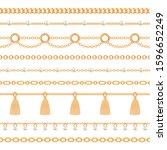 set collection of golden... | Shutterstock .eps vector #1596652249