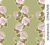 seamless pattern with roses   Shutterstock .eps vector #159667658