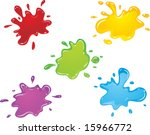 vector color paint splashes | Shutterstock .eps vector #15966772