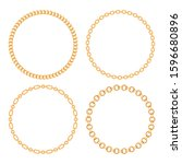 set collection of round frames... | Shutterstock .eps vector #1596680896