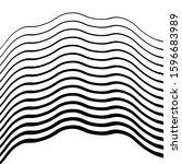 wavy linear vector background....   Shutterstock .eps vector #1596683989