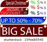 special christmas discount 50   ... | Shutterstock .eps vector #1596685540