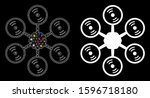 glossy mesh multirotor icon...