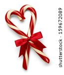 Two Candy Canes In Heart Shape...