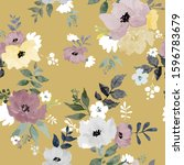 seamless floral pattern with... | Shutterstock .eps vector #1596783679