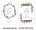 stylish wedding invitation... | Shutterstock .eps vector #1596787210