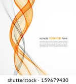 abstract waved line background | Shutterstock .eps vector #159679430