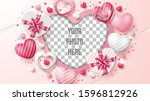 valentine's day greeting card... | Shutterstock .eps vector #1596812926
