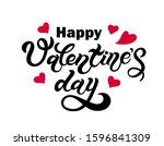 happy valentine's day. hand... | Shutterstock .eps vector #1596841309