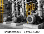 equipments  pipes in a modern... | Shutterstock . vector #159684680