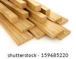 wooden beams and planks | Shutterstock . vector #159685220