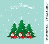 santa claus. christmas...   Shutterstock .eps vector #1596852850