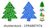 fir tree mosaic of small...   Shutterstock .eps vector #1596887476