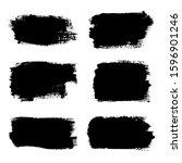 brush strokes set  isolated... | Shutterstock . vector #1596901246
