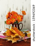 Beautiful Autumn Leaves With...