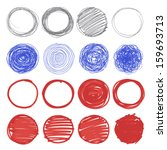 set of hand drawn circles.  | Shutterstock .eps vector #159693713