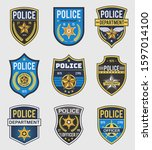 police badges. officer... | Shutterstock .eps vector #1597014100