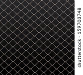 Wire Fence Vector Background.