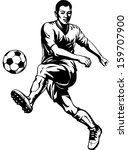 soccer football player in... | Shutterstock .eps vector #159707900