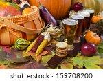 oktoberfest beer flight of four ... | Shutterstock . vector #159708200