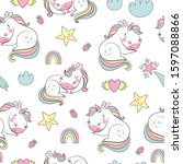 seamless childish pattern with... | Shutterstock .eps vector #1597088866