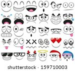 vector cartoon set of thirty... | Shutterstock .eps vector #159710003