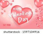 pink valentine's day background ...   Shutterstock .eps vector #1597104916