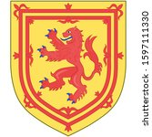 coat of arms of scotland is a... | Shutterstock .eps vector #1597111330