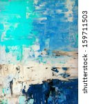 Turquoise And Blue Abstract Art ...